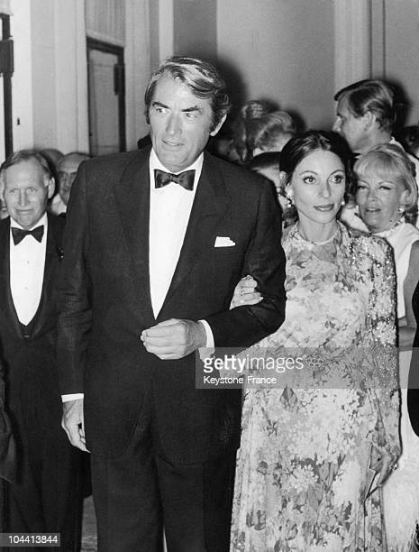 In Monte-Carlo on August 8 the American actor Gregory PECK and his wife Veronique attended a reception given by Prince RAINIER and Princess GRACE of...