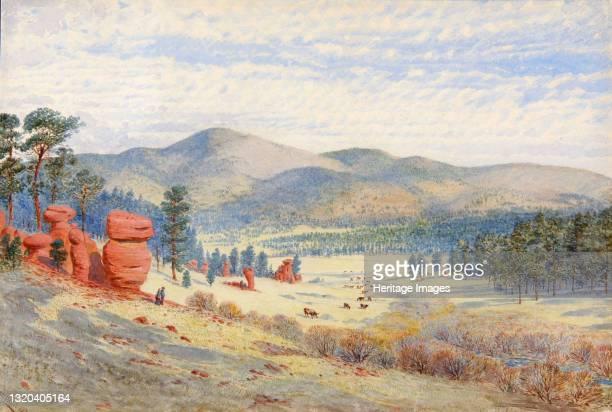 In Monument Park, Colorado, 1874. Artist Walter Paris.