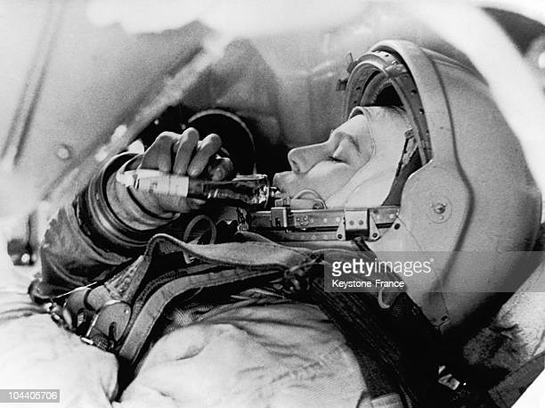 In Moscow in June 1963 the Russian spacewoman Valentina TERESHKOVA was pictured training in preparation for her first flight into space She was the...