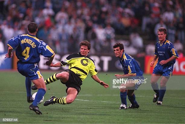LEAGUE 96/97 in MUENCHEN/GER FINALE BORUSSIA DORTMUND JUVENTUS TURIN 31 Paolo MONTERO Andreas MOELLER Ciro FERRARA