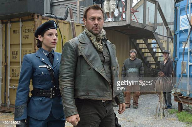 DEFIANCE In My Secret Life Episode 202 Pictured Anna Hopkins as Jessica Berlin Rainer Grant Bowler as Joshua Nolan