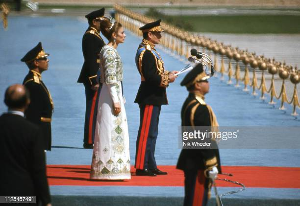 In Oct 1971 Shah hosts foreign dignitaries in tent city in the ruins of Persepolis celebrating 2500th year of the Persian Empire. Foreign guests...