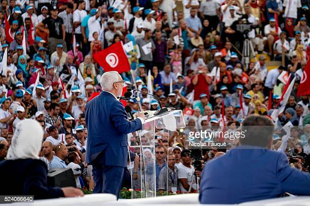 in the theater of Sidi Mansour city in the suburb of Sfax the second city of the country more than 10 000 partisans of Ennahdha gathered for a big...