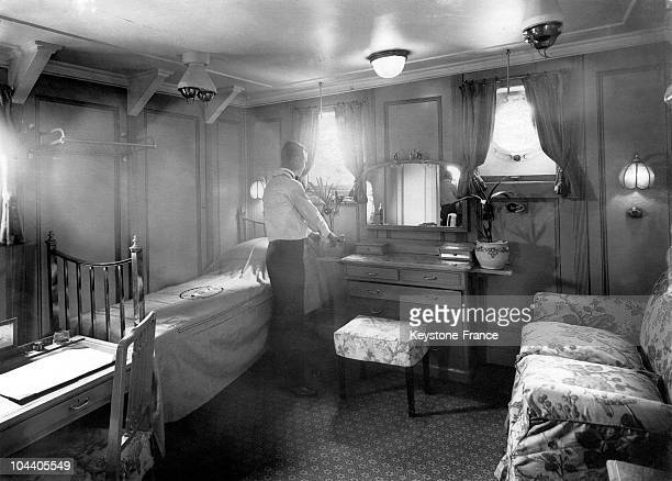 In October 1930 Prince HENRY of Great Britain Duke of Gloucester and brother of king GEORGE VI takes possession of his room aboard the liner RANPURA...