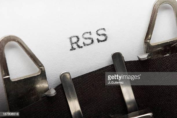 rss に古い typewritter - シンジケーション ストックフォトと画像