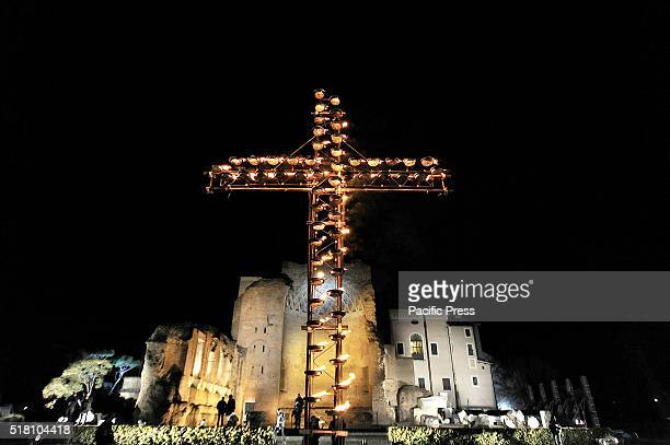 COLOSSEUM ROME LAZIO ITALY In one of the armored Coliseum Square by hundreds of police Pope Francis celebrated the Way of the Cross in the week...