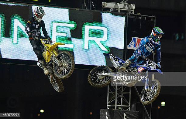 In one of the better races of the night Killian Rusk beat Broc Tickle by inches to win their Semi at the Monster Energy Supercross at Petco Park on...