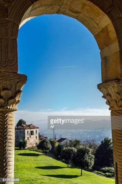 santa maría del naranco church in oviedo, asturias, spain - oviedo stock pictures, royalty-free photos & images