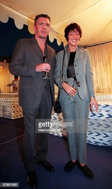 In Palma de Mallorca 31.8.96, Graciano ROCCHIGIANI mit Frau Christine/Ehefrau/Rocky