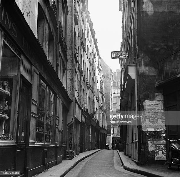 TODAY 'TODAY in Paris 1959' Pictured An alleyway in Paris France from April 27 May 1 1959 Photo by NBC/NBC NewsWire