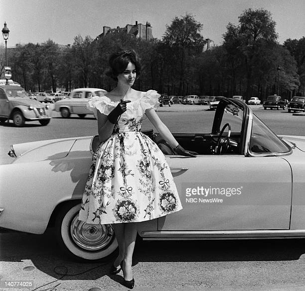 TODAY 'TODAY in Paris 1959' Pictured 'Girl of the Day' 'Girl of the Day' Miss France Claudine Oger in Paris France from April 27 May 1 1959 Photo by...