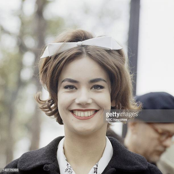 TODAY 'TODAY in Paris 1959' Pictured 'Girl of the Day' Miss France Claudine Oger in Paris France from April 27 May 1 1959 Photo by NBC/NBC NewsWire