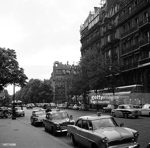 TODAY 'TODAY in Paris 1959' Pictured Street view iin the Montparnasse Quarter of Paris France from April 27 May 1 1959 Photo by NBC/NBC NewsWire