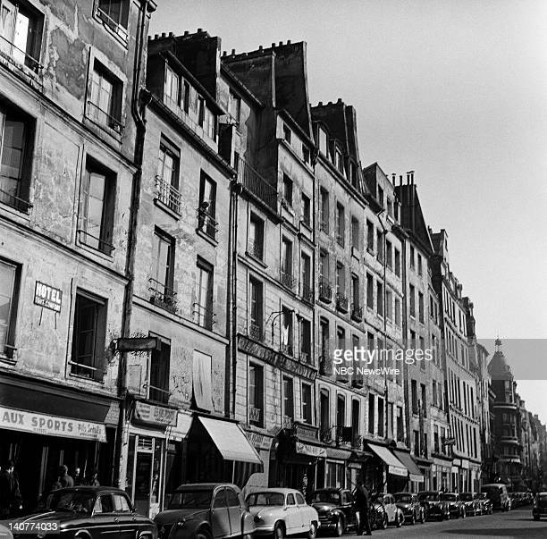TODAY TODAY in Paris 1959 Pictured Street view in Paris France from April 27 May 1 1959 Photo by NBC/NBC NewsWire