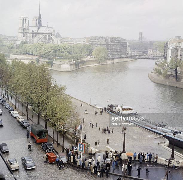 TODAY TODAY in Paris 1959 Pictured View of the river Seine and Notre Dame de Paris in Paris France from April 27 May 1 1959 Photo by NBC/NBC NewsWire