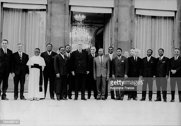 In Paris, General DE GAULLE is receiving several African heads of State, who have just returned from the Addis-Abeba conference, where the African...