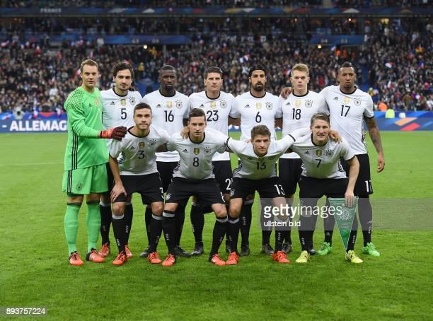 FUSSBALL INTERNATIONAL TESTSPIEL in Paris SaintDenis im Stade de France Frankreich Deutschland Torwart Manuel Neuer Mats Hummels Antonio Ruediger...