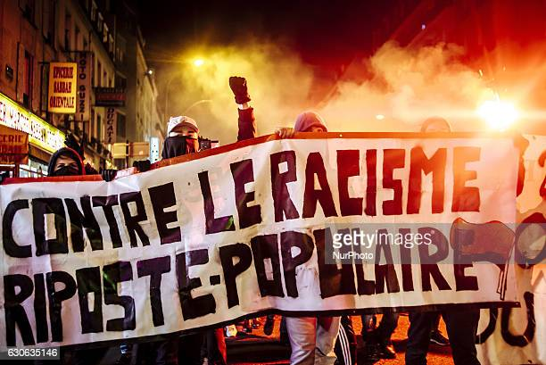 In Paris several hundred antifascist militants gathered in order to protest France's current migrants policies and police violence in Paris France on...
