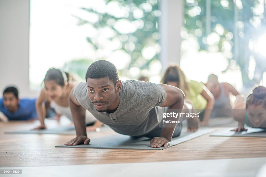 In Plank Position : Stock Photo