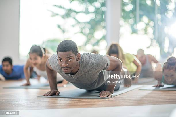 In Plank Position