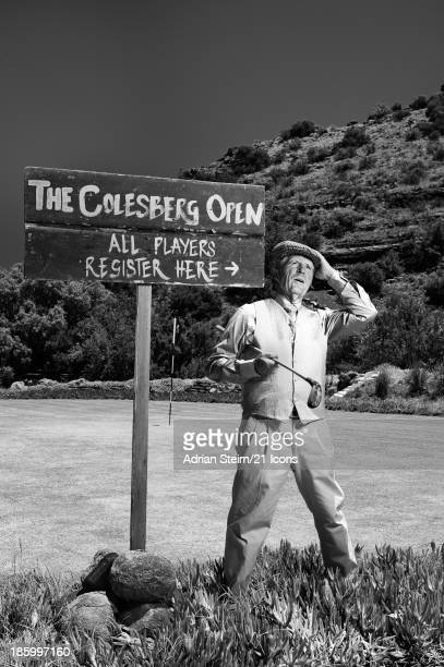 'In Play' Champion golfer Gary Player is pictured on the small golf course of his stud farm near Colesburg in the Northern Cape as part of...
