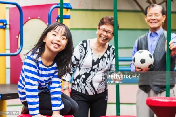 In playground