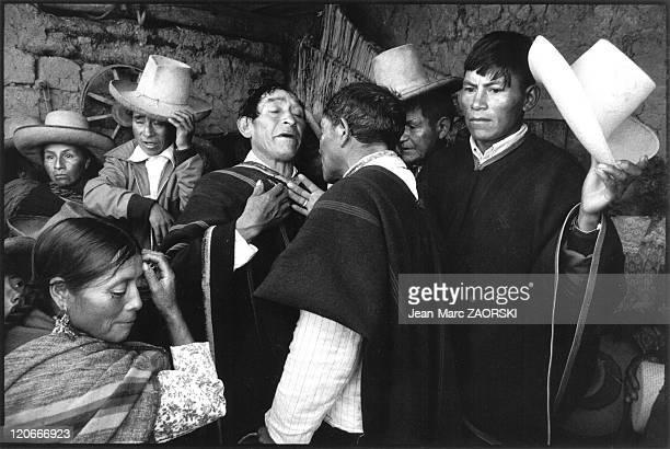 In Porcon Peru on April 06 1983 Jose Ispilco de la Cruz mayordome of the Ascension Day