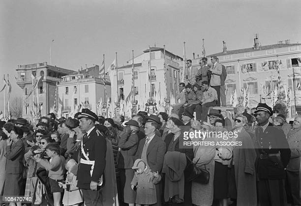 In port, they are met by a throng of well wishing onlookers. April 19, 1956 in Monaco. The newlyweds set sail for a honeymoon cruise around the...
