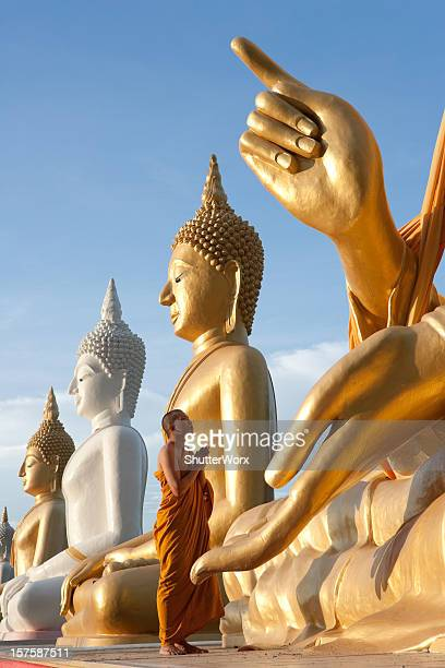 in prayer - chiang mai province stock photos and pictures