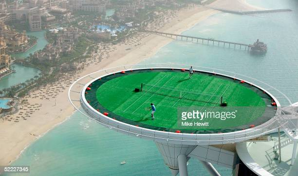 In preparation for the Dubai Duty Free Men's Open, tennis legend Andre Agassi of the USA and the World's No. 1 Roger Federer of Switzerland, couldn't...