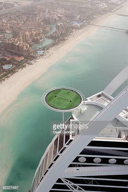 In preparation for the Dubai Duty Free Men's Open tennis legend Andre Agassi of the USA and the World's No 1 Roger Federer of Switzerland couldn't...