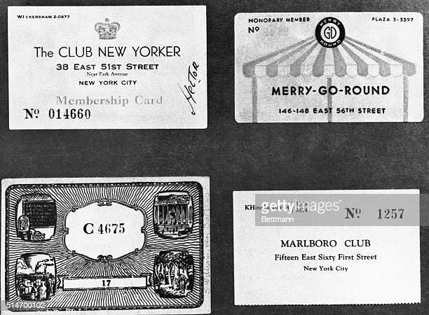 In Prohibition era New York a card from a wellknown speakeasy in good standing would permit entrance to almost any other