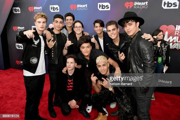 In Real Life and CNCO attend the 2018 iHeartRadio Music Awards which broadcasted live on TBS TNT and truTV at The Forum on March 11 2018 in Inglewood...