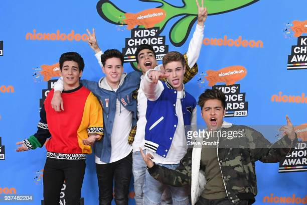 In Real Life attends Nickelodeon's 2018 Kids' Choice Awards at The Forum on March 24 2018 in Inglewood California