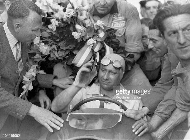 In Reims France the Argentinian Juan FANGIO wins the European Grand Prix in an ALFA ROMEO with an average speed of 178km/hr