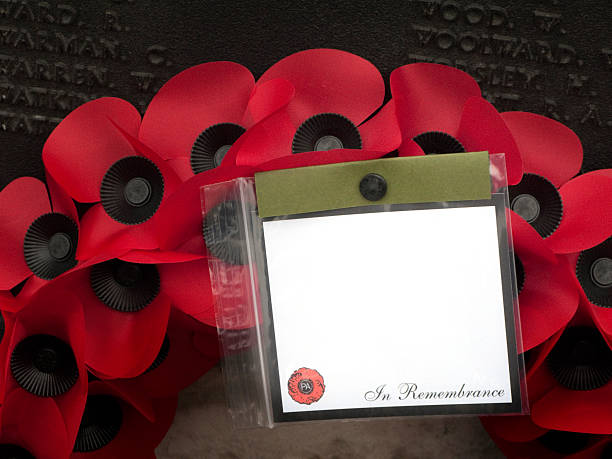 'In Remembrance' poppy wreath