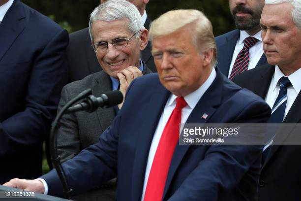 In response to the ongoing global coronavirus pandemic US President Donald Trump announces that he is declaring a national emergency during news...