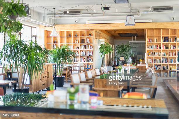 in restaurant - カフェテリア ストックフォトと画像