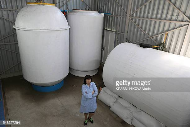 in Russia KrioRus a company specialized in cryonics for animals and humans Valeria Oulalova the director of the Company poses in front of the...