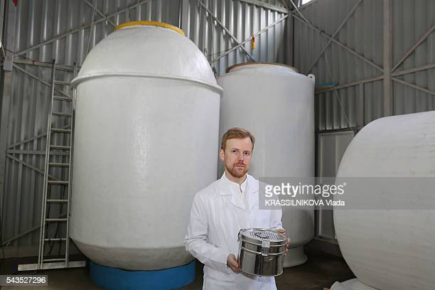 in Russia KrioRus a company specialized in cryonics for animals and humans containers with cryopreserved bodies in liquid nitrogen Danila Medvedev...