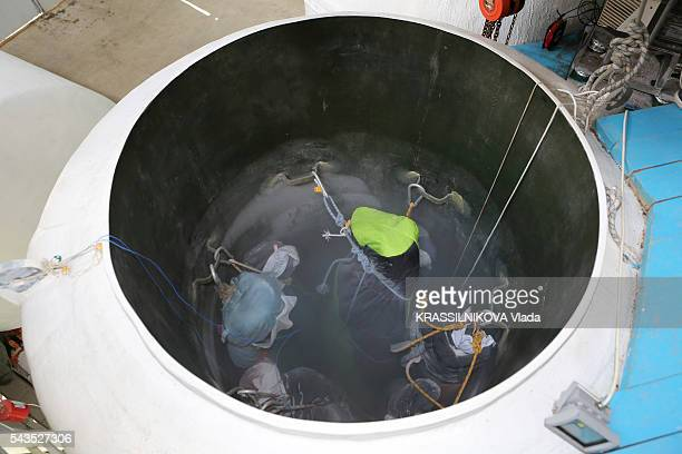 in Russia KrioRus a company specialized in cryonics for animals and humans a container with cryopreserved bodies in liquid nitrogen on May 23 2016...