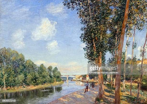 In SaintMammès June Sunshine by Alfred Sisley French impressionist landscape painter Dated 1852
