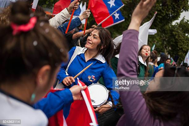In Santiago de Chile thousands of civil servants participate in the daylong nationwide strike initiated by the workers union Central Workers�� Union...