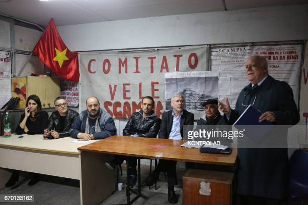 SCAMPIA NAPLES CAMPANIA ITALY In Scampia Quarter the inhabitants during a organizationale meeting Vele resident building leave the degraded houses to...