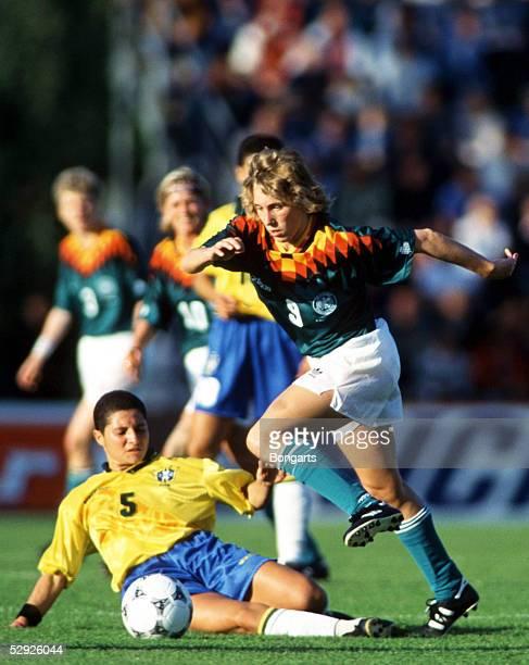 WM 1995 in Schweden Brasilien Deutschland 16 COZER ABREAU/BRA Heidi MOHR/GER