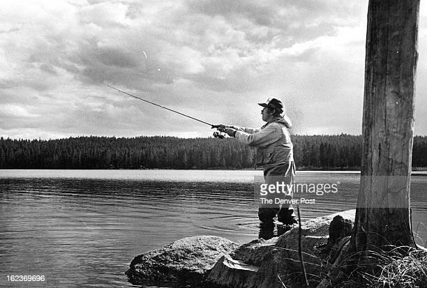 MAY 21 1980 MAY 22 1980 In Search of Brown Trout on Colorado's Shadow Mountain Reservoir John Arthur reaches out with long cast from rocky point...