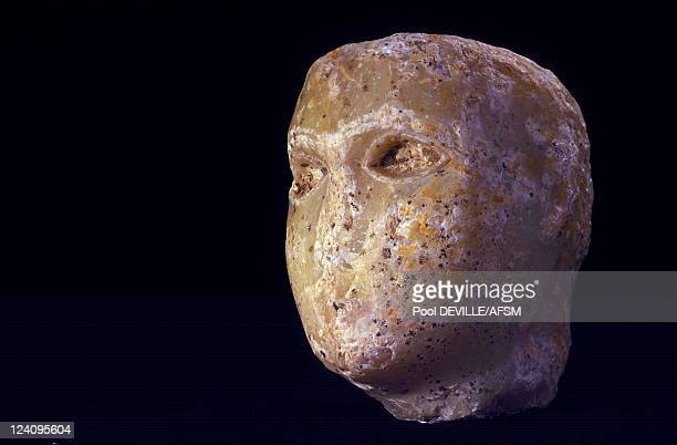 In search of the Queen of Sheba in Marib Yemen in May 2001 A 15cmhigh alabaster head of a young male statue found in 2001 This head comes from a...