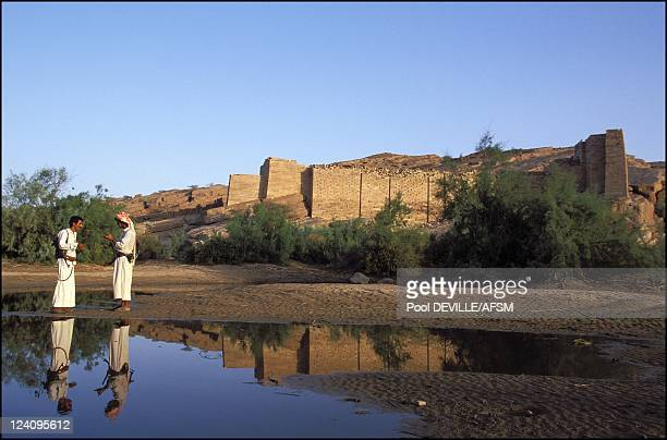 In search of the Queen of Sheba in Marib Yemen in May 2001 Remains of the most important of Marib dams that played a major role in the developing of...