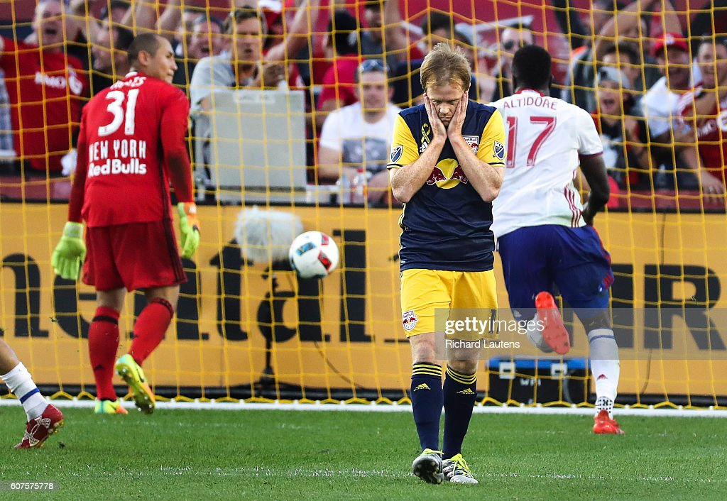 TFC takes on New York Red Bulls at BMO field in Toronto : News Photo