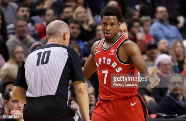 TORONTO ON DECEMBER 17 In second half action referee Ron Garretson has a chat with Toronto Raptors guard Kyle Lowry The Toronto Raptors beat the...
